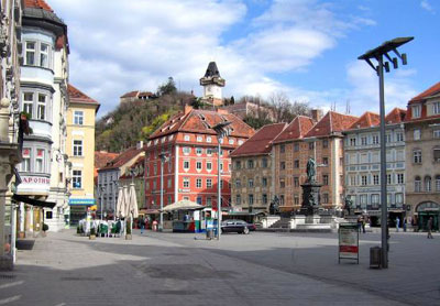 The Main Square in Graz, Austria